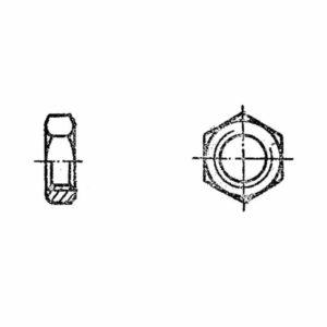 ОСТ 1 33213-89 Гайки шестигранные для нерасчетных соединений и стопорения