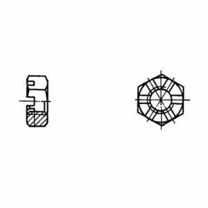ОСТ 1 33047-80 Гайки шестигранные прорезные низкие