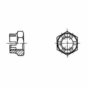 ОСТ 1 33041-80 Гайки шестигранная корончатая высокая