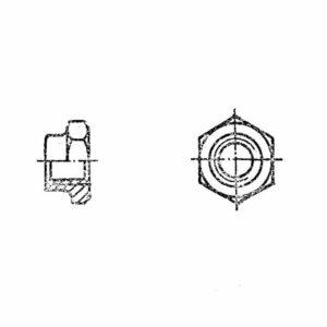 ОСТ 1 33235-89 Гайки шестигранные низкие самоконтрящиеся