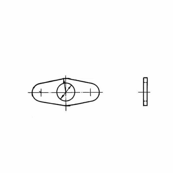 ОСТ 1 34514-80 Шайбы для двухушковых гаек