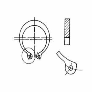ОСТ 1 10789-85 Кольца пружинные упорные плоские наружные эксцентрические для температур до 300 °С