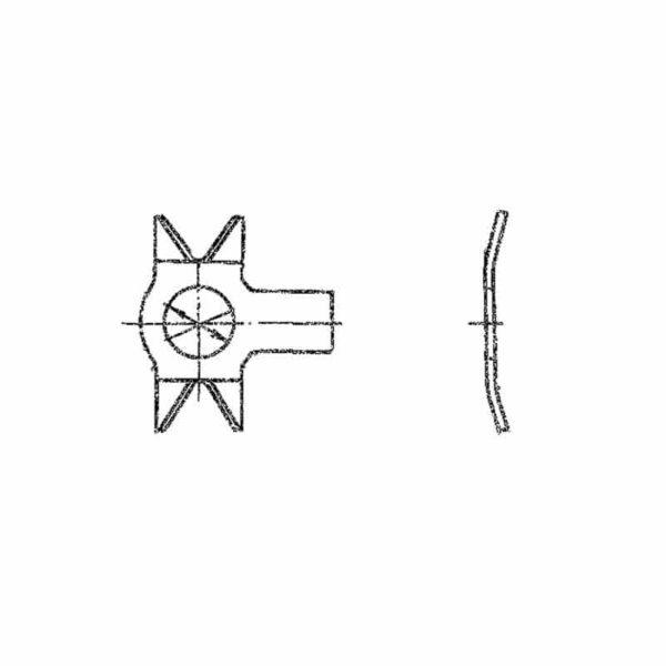 ОСТ 1 34527-80 Шайбы стопорные двухсторонние с лапкой