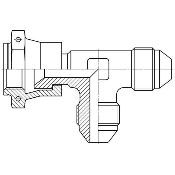 1-8-ОСТ 1 13856-81 (6492А-6) Тройник проходной с обжимной гайкой